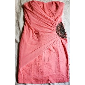 ASOS peachy pink party dress size 6